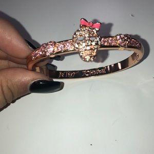 Betsy Johnson skull rose gold bracelet